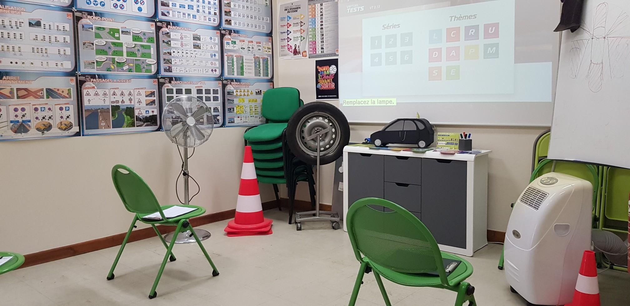 Salle de code de l'auto-école central à Troyes