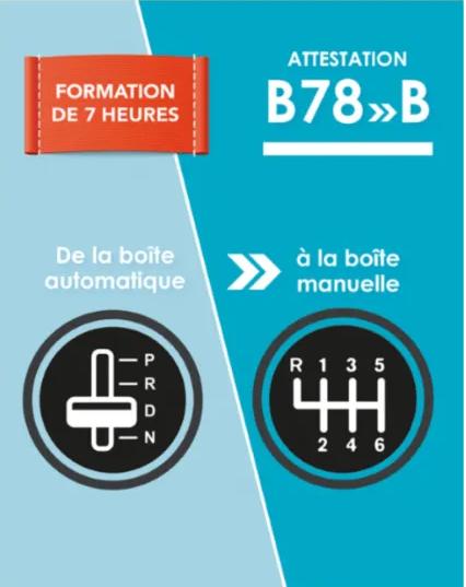 permis B vers B78